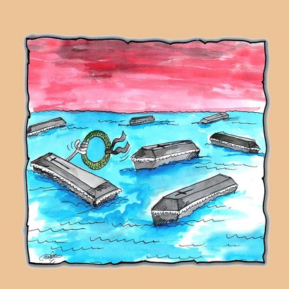 Ilustrace Kresba Malovane Mrtve More